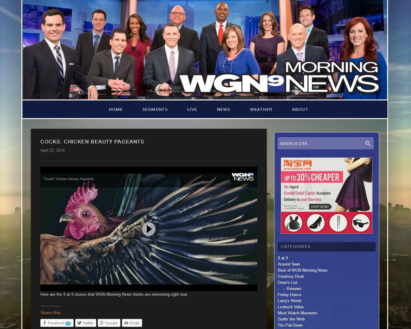 WGN9 news Apr 22 2014